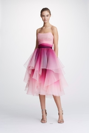 Marchesa Strapless Ombre Dress - Product Mini Image