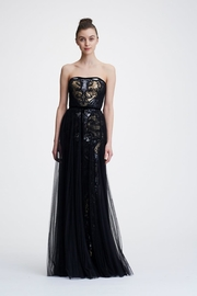 Marchesa Strapless Sequined Gown - Product Mini Image