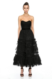 Marchesa Strapless Textured Dress - Front cropped
