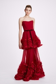 Marchesa Strapless Tiered Gown - Front cropped