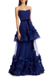 Marchesa Strapless Tiered Gown - Product Mini Image