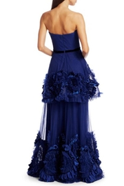 Marchesa Strapless Tiered Gown - Front full body