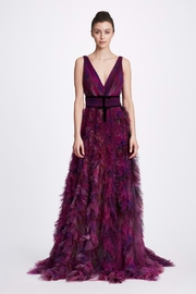 Marchesa Textured Tulle Gown - Product Mini Image