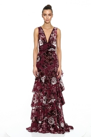 Marchesa Tiered Chiffon Gown - Front cropped