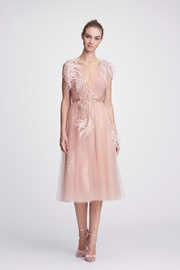 Marchesa V-Neck Tulle Dress - Product Mini Image