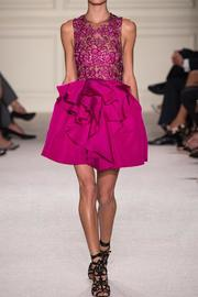 Marchesa Pink Embroidered Dress - Front cropped