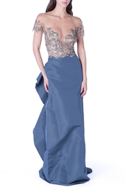 Marchesa Couture Grey Sequin Ruffle - Product Mini Image