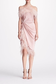 Marchesa Feather Cocktail Dress - Product Mini Image