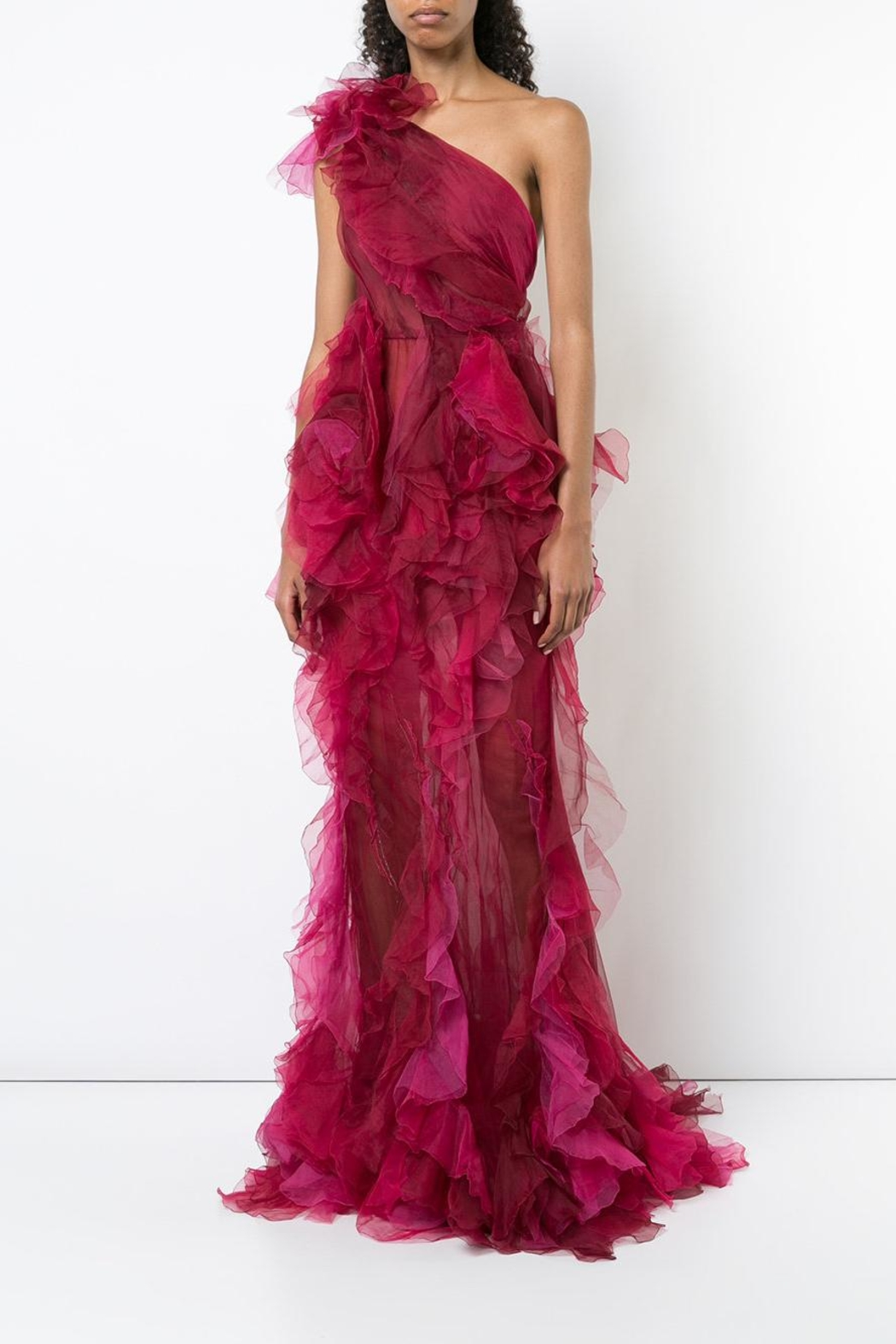 Marchesa Tulle Evening Gown - Front Full Image