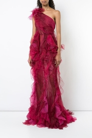 Marchesa Tulle Evening Gown - Front full body