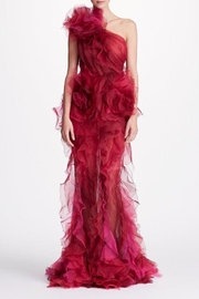 Marchesa Tulle Evening Gown - Front cropped