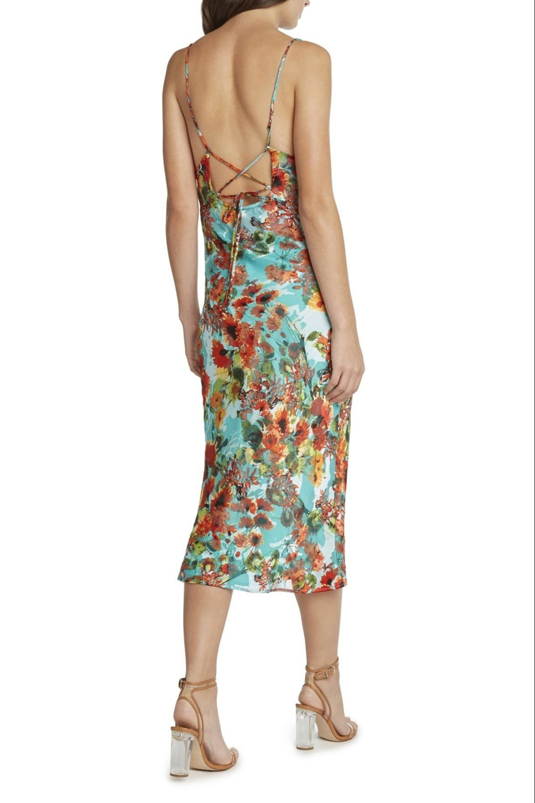 Willow & Clay Marcia Floral Dress - Side Cropped Image