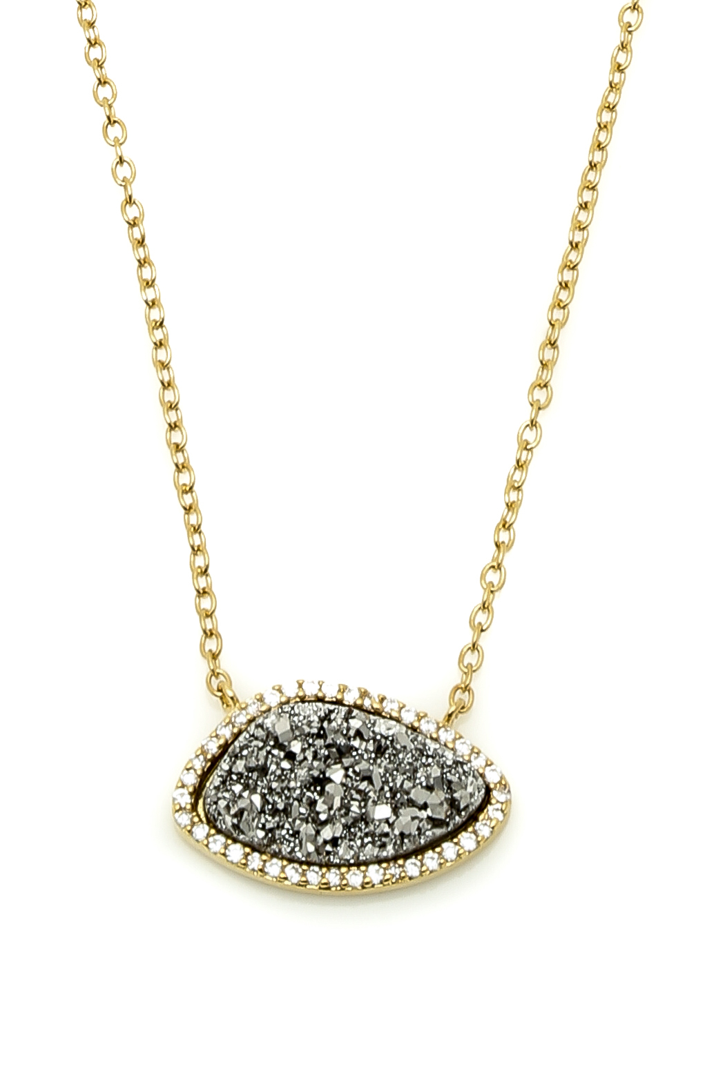 marcia titanium druzy pendant necklace from dallas
