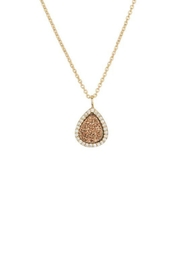 Marcia Moran Bronze Druzy Necklace - Front cropped
