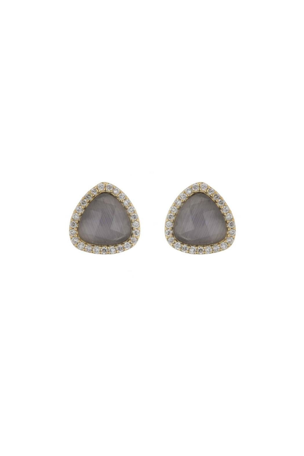 Marcia Moran Cats Eye Studs - Front Cropped Image