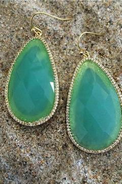 Shoptiques Product: Large Chalcedony Earrings
