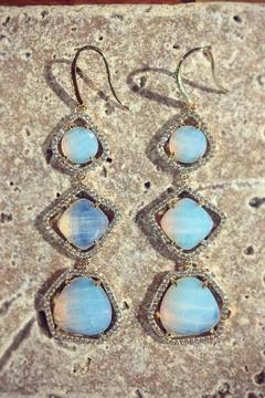 Shoptiques Product: Moonstone Drop Earrings