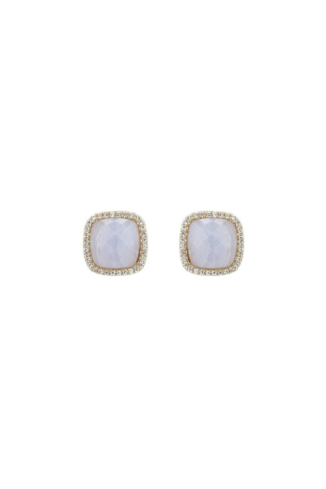Marcia Moran Pave Agate Studs - Front Cropped Image