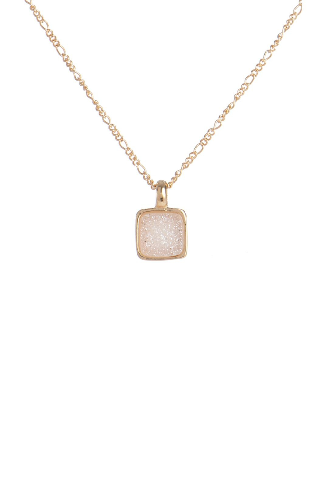 Marcia Moran Pink Druzy Necklace - Front Cropped Image