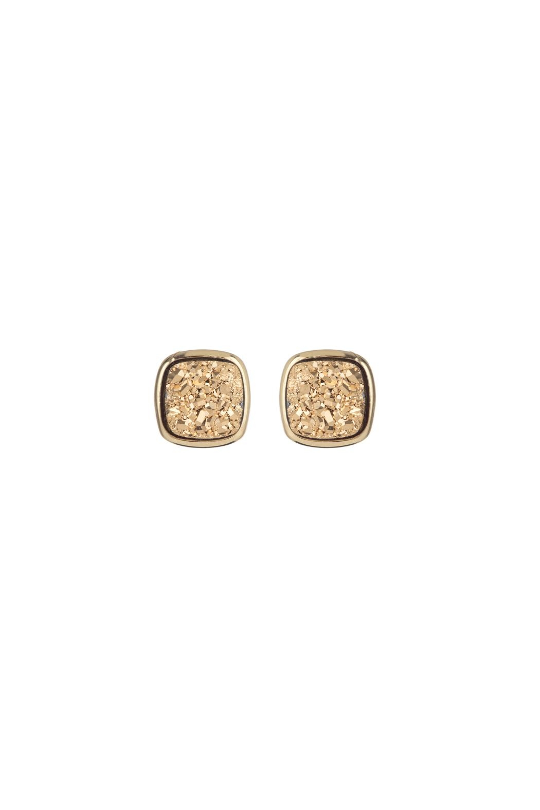 Marcia Moran Square Druzy Studs - Front Cropped Image