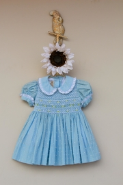 Marco&Lizzy Little Threads Blue Dot Dress - Front cropped