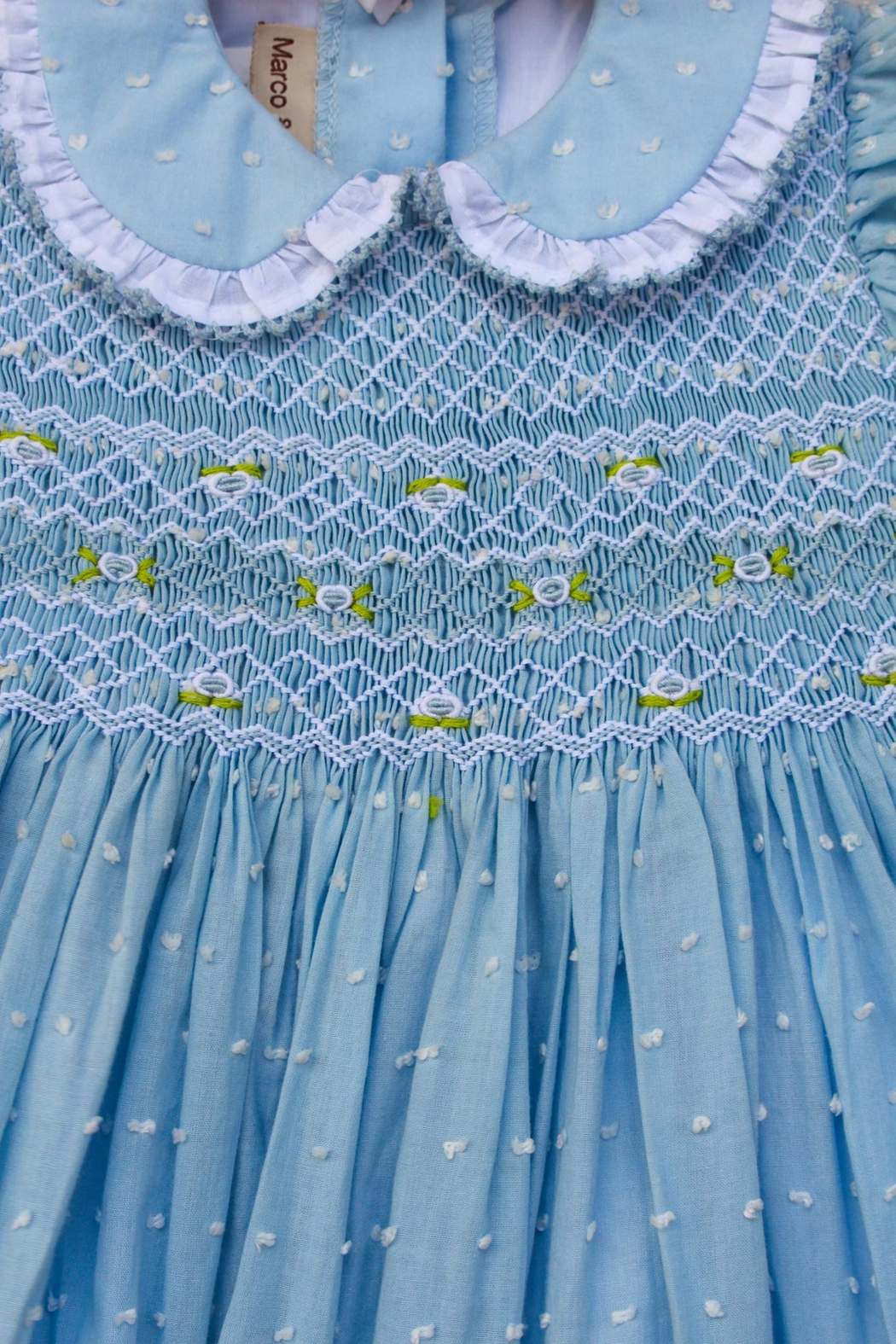 Marco&Lizzy Little Threads Blue Dot Dress - Front Full Image