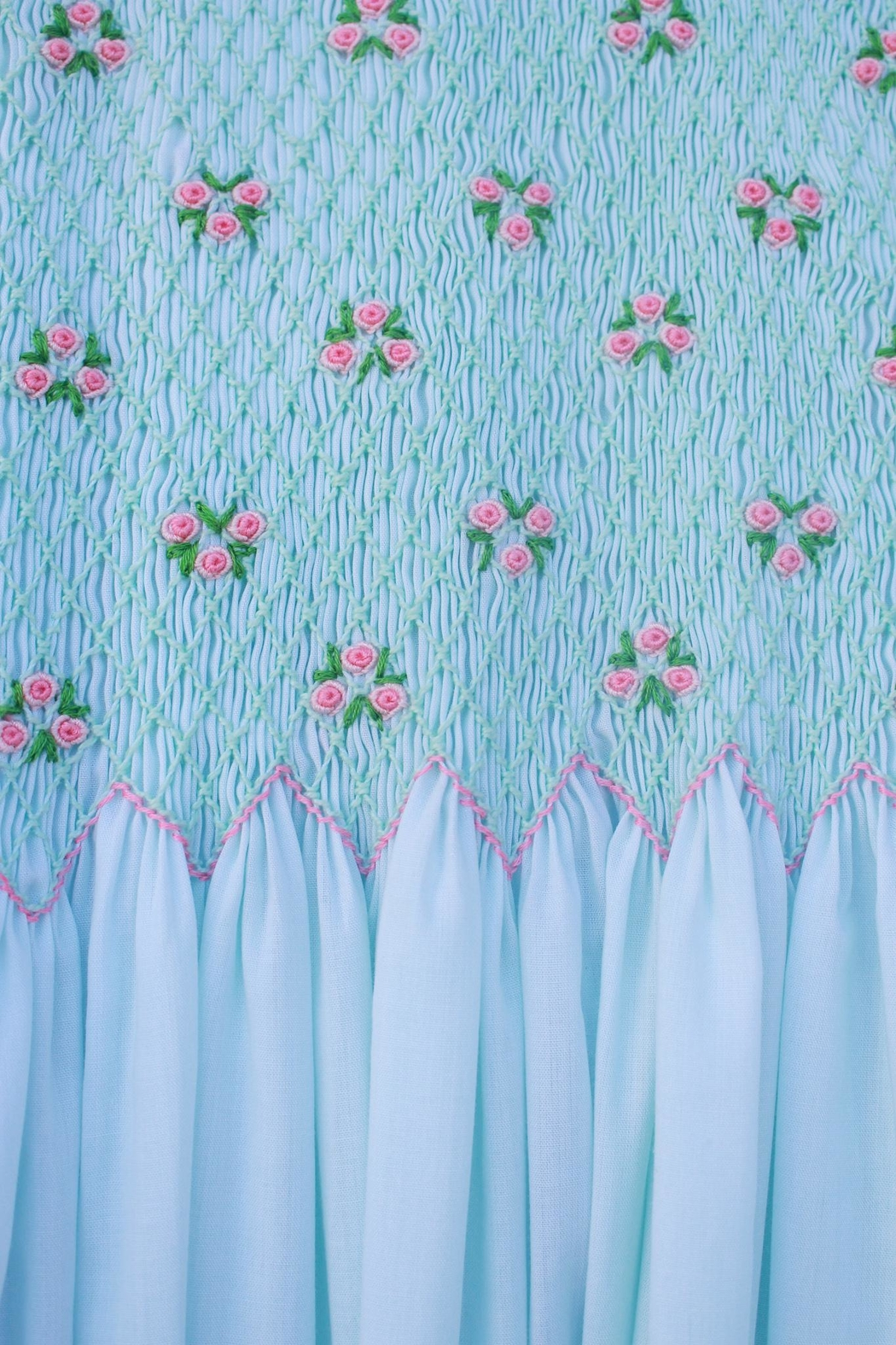 Marco&Lizzy Little Threads Mint Batiste Dress - Front Full Image