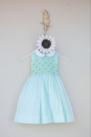 Marco&Lizzy Little Threads Mint Batiste Dress - Front cropped