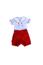 Marco&Lizzy Little Threads Red Boy Set - Front cropped