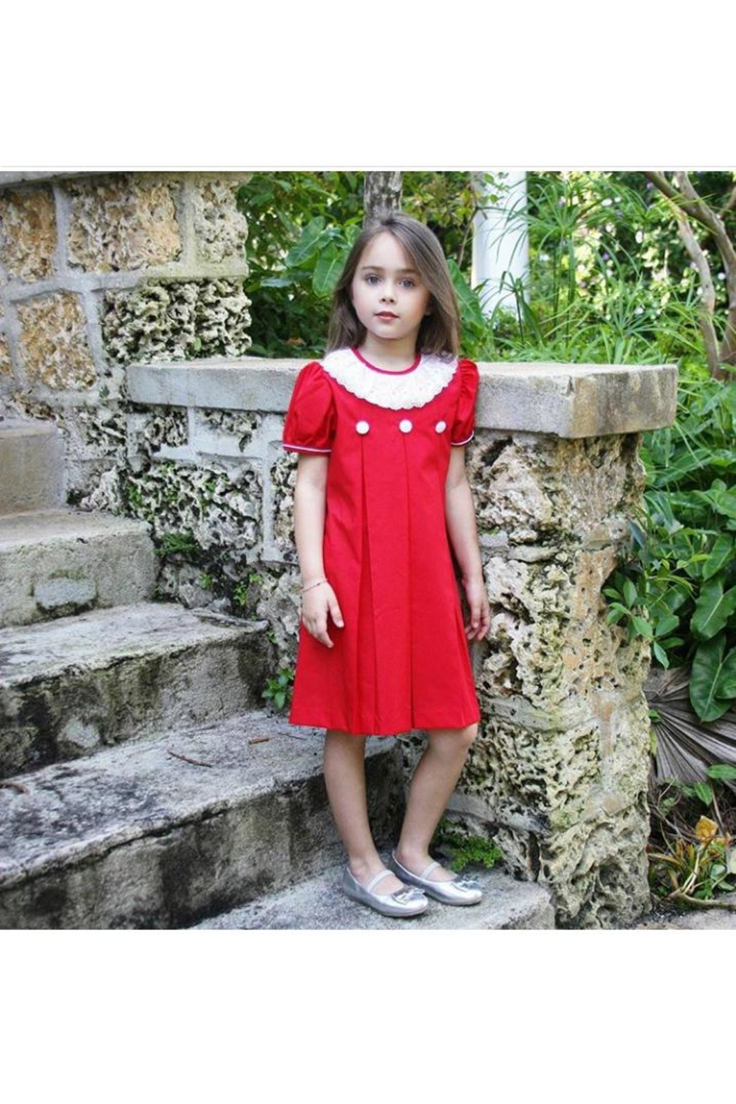 Marco&Lizzy Little Threads Red Ruffle Dress - Main Image