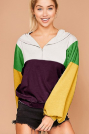 Peach Love California Mardi Gras Hooded Pullover - Front cropped