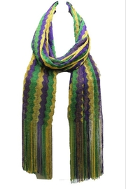 Crystal Avenue Mardi Gras Scarf - Front cropped