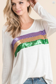 Bibi Mardi Gras Sequin Stripe - Product Mini Image