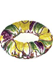 Mardi Gras Collection King Cake Platter - Front cropped