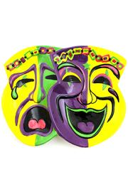 Mardi Gras Collection Mardi-Gras Mask Platter - Front cropped