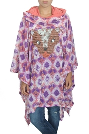 MARE DE AMORE Fox Poncho - Front cropped