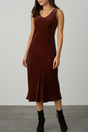 Margaret O'Leary MARGARET 0'LEARY VELVET BIAS DRESS - Product Mini Image