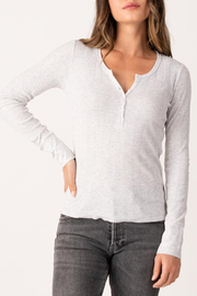 Margaret O'Leary MARGARET O'LEARY KNIT HENLEY TOP - Product Mini Image