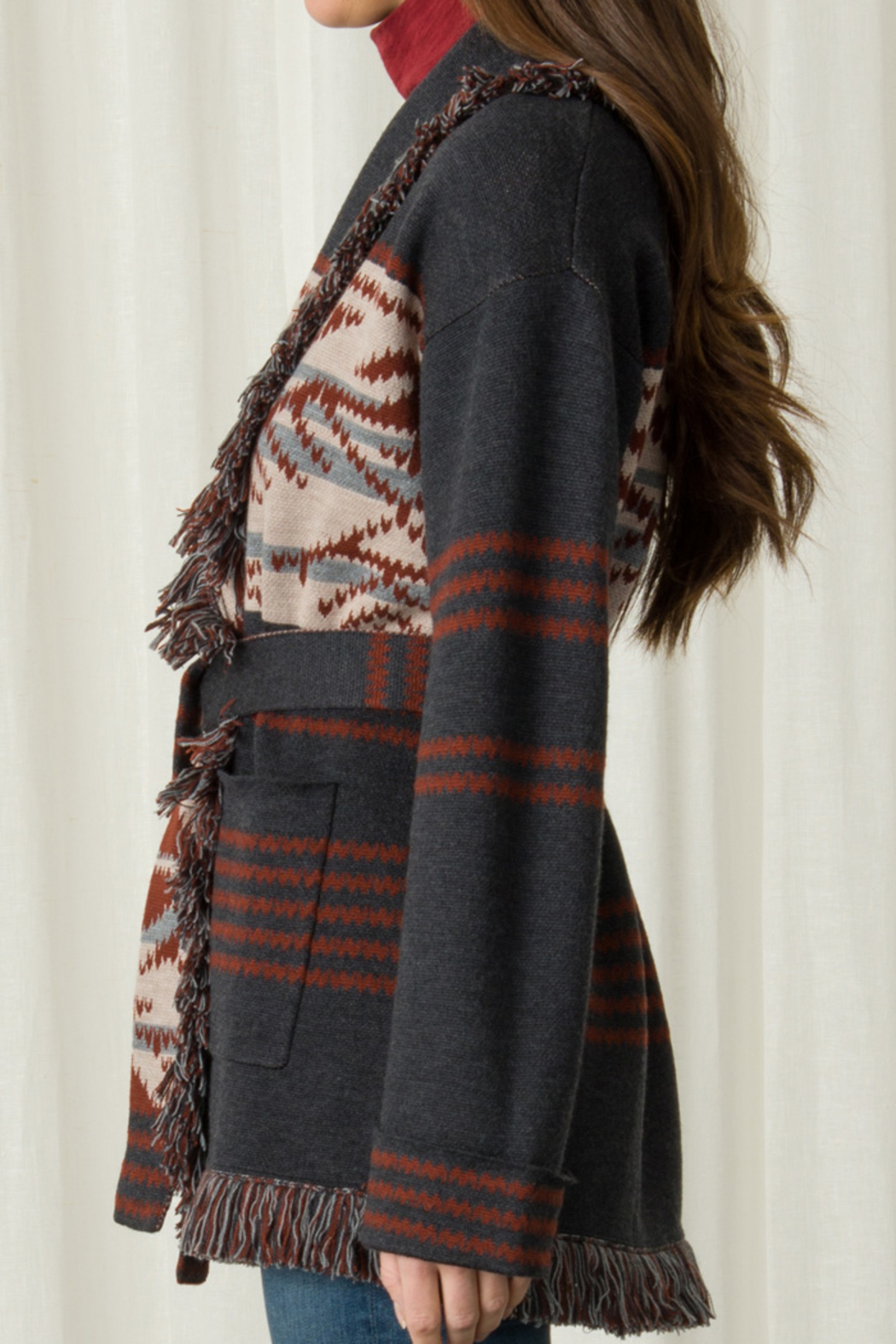 Margaret O'Leary MARGARET O'LEARY NAVAJO SHAWL COAT - Front Full Image