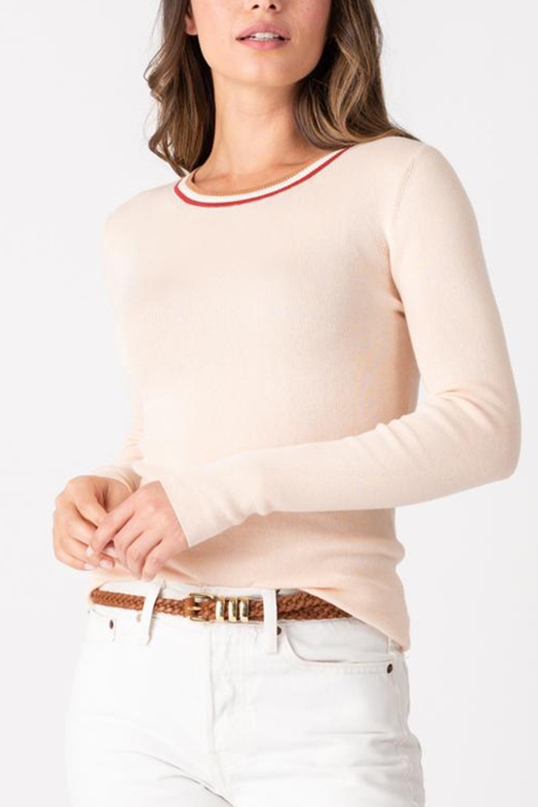 Margaret O'Leary MARGARET O'LEARY RIBBED CREW TOP - Main Image