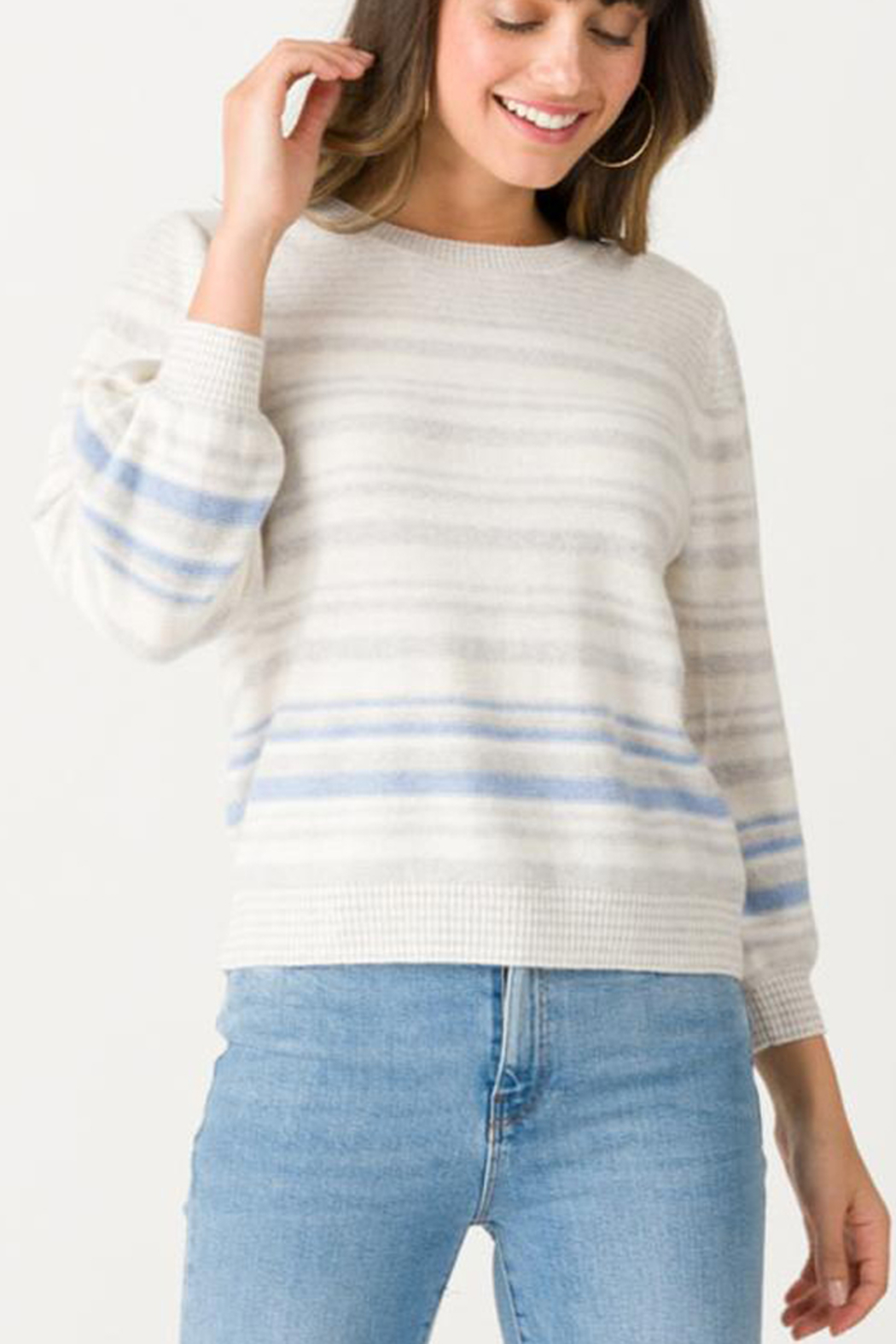 Margaret O'Leary MARGARET O'LEARY STRIPE PULLOVER SWEATER - Main Image