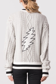 Margaret O'Leary Cabled Embroidery Bomber Jacket - Front full body