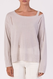 Margaret O'Leary Distressed Long Sleeve Sweater - Product Mini Image