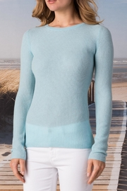 Margaret O'Leary Cashmere Waffle Crew - Front cropped