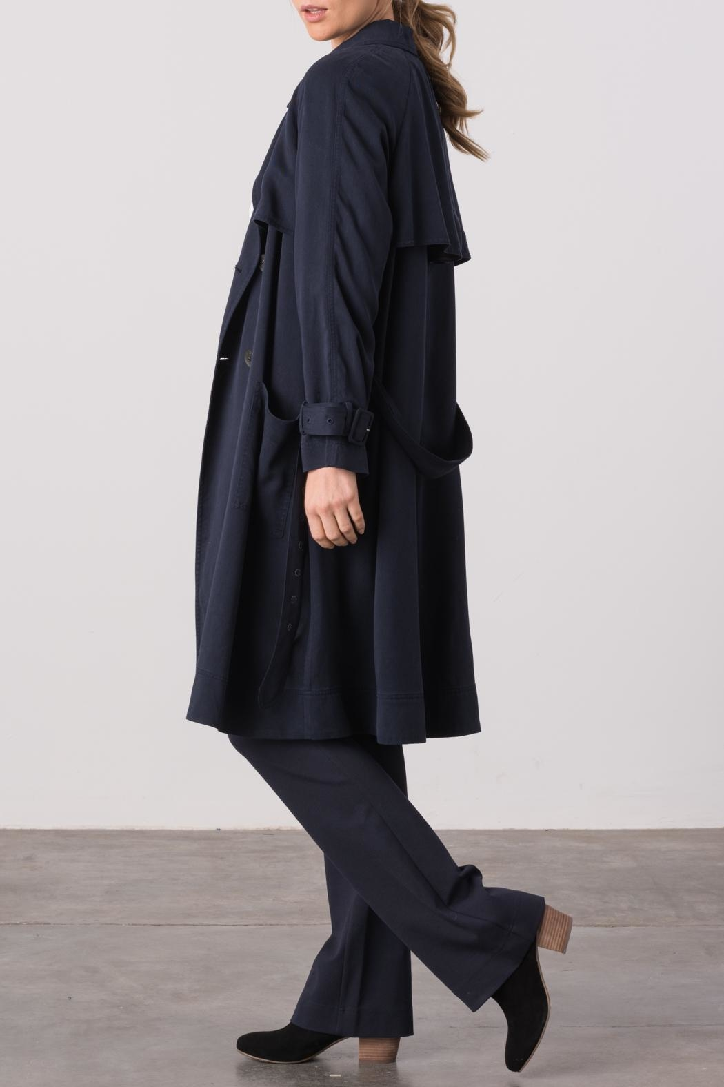 Margaret O'Leary Cindy Trench Coat - Back Cropped Image