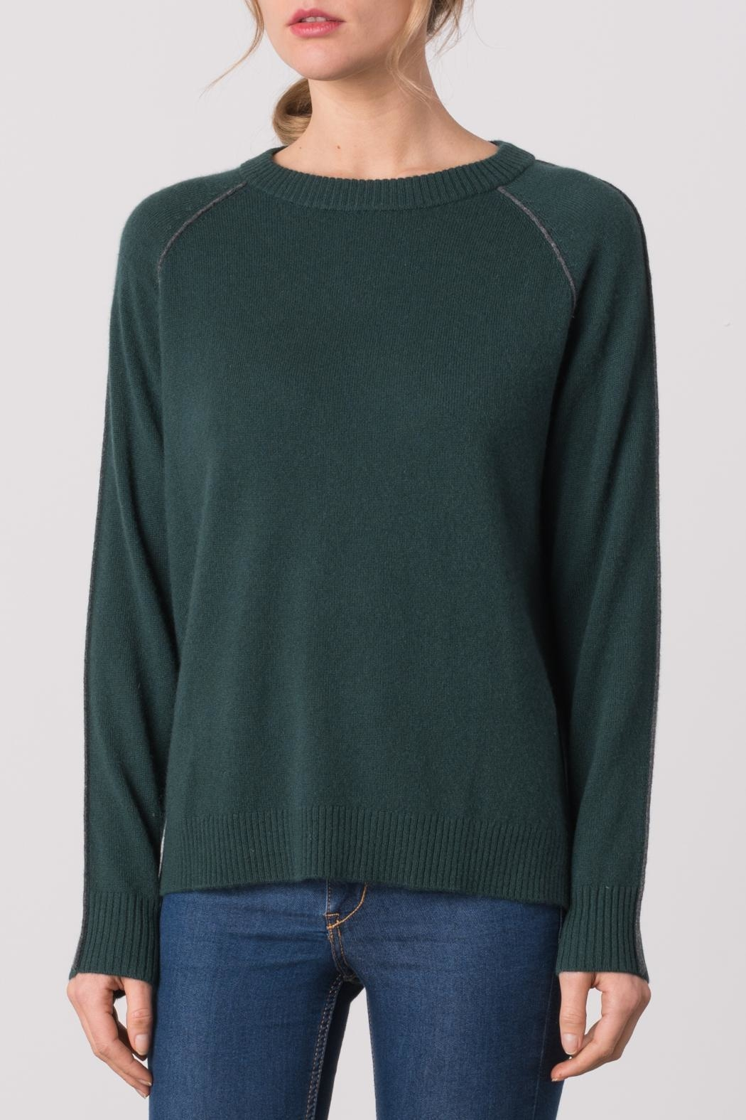 Margaret O'Leary Color Block Sweater - Front Cropped Image