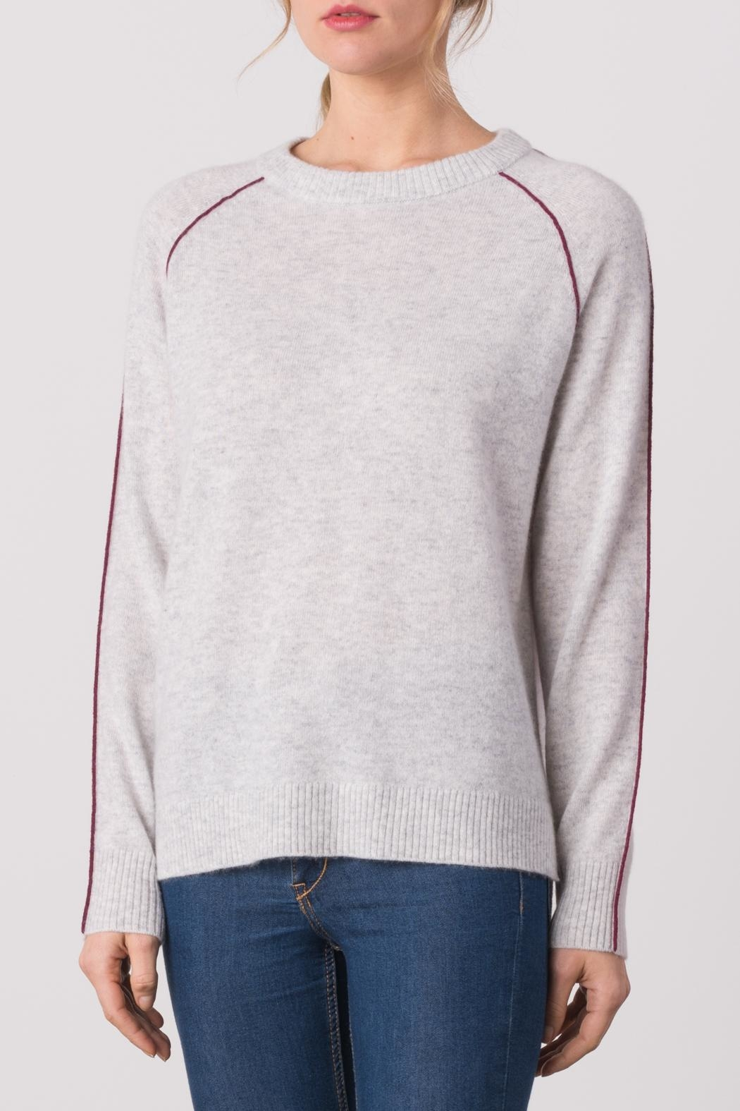 Margaret O'Leary Color Block Sweater - Back Cropped Image