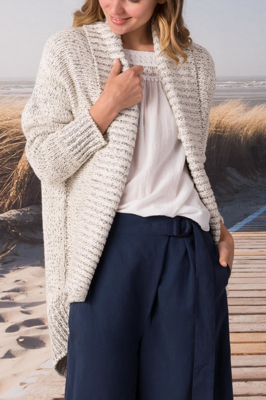 Margaret O'Leary Cotton Cardigan - Front Cropped Image