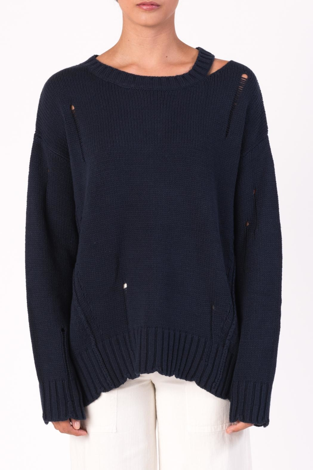 Margaret O'Leary Cotton Grunge Sweater - Front Cropped Image
