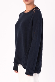 Margaret O'Leary Cotton Grunge Sweater - Back cropped